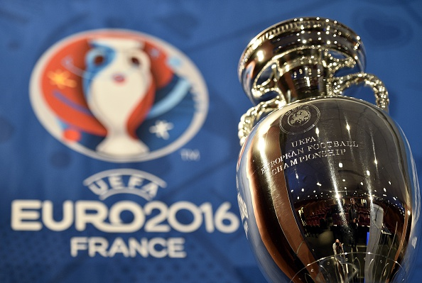 A picture taken  on May 12, 2015 in Paris shows the  Henri Delaunay cup, the trophy of the UEFA European Football Championship. The Euro 2016 event will feature 24 countries for the first time, up from 16 in 2012, and France becomes the first country to stage the European Championship three times. AFP PHOTO / FRANCK FIFE / AFP / FRANCK FIFE        (Photo credit should read FRANCK FIFE/AFP/Getty Images)